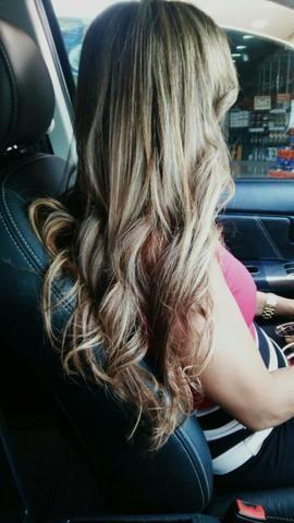 Mega hair mesclado