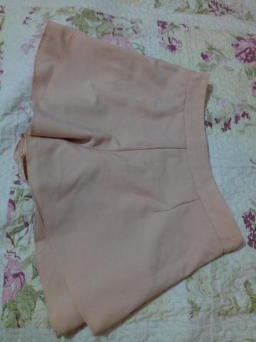 Short cintura alta de tecido. M