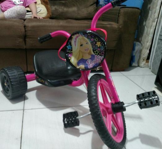 Lindo Triciclo Bandeirantes da Barbie Novo