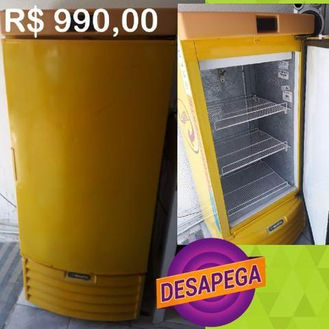 Freezer vertical amarelo cervejeira Upp Imperdível