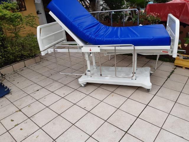 Cama hospitalar 3 manivelas,s luxo com elevação de altura - Foto 5