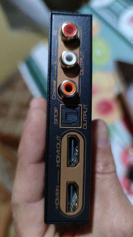 Extrator de audio HDMI com entrada e saída de vídeo e audio digital e analógico - Foto 2