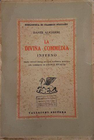 Liquidação! Divina Comédia em italiano, edição comentada de 1950 - Foto 3