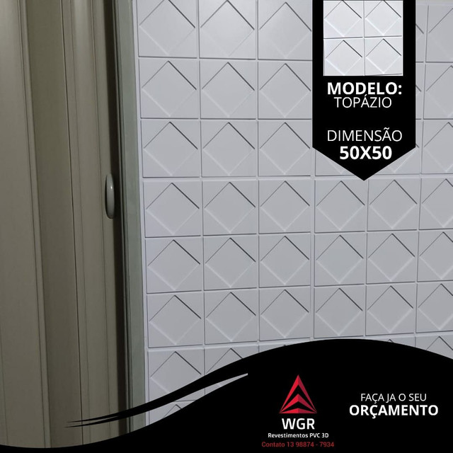 Revestimento de Parede 3D Premium de Poliestireno - Foto 6