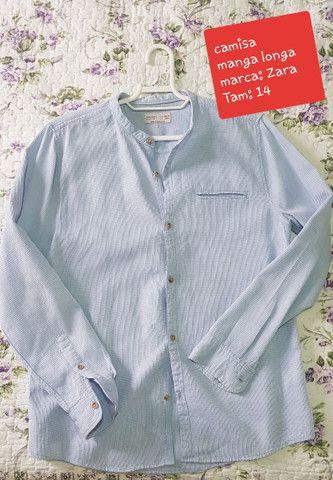 Camisa Manga Longa Infantil conservada - TAM 14