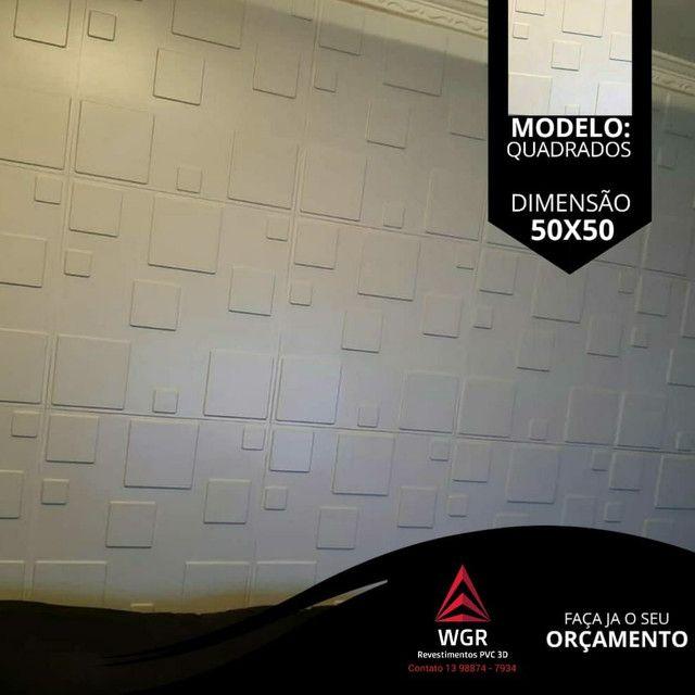 Revestimento de Parede 3D Premium de Poliestireno - Foto 4