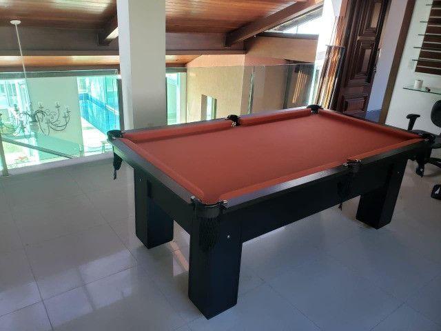 Mesa de Bilhar Preta TX Tecido laranja Modelo ZRJH090265 - Foto 2