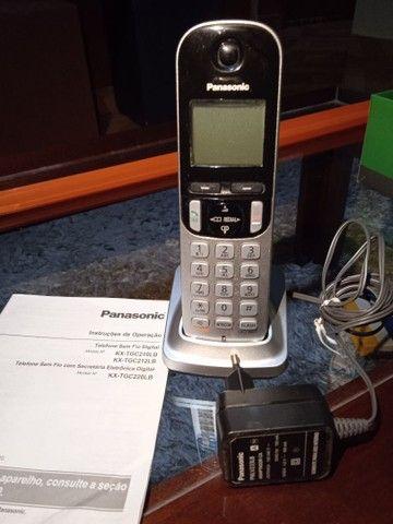 Telefone sem fio Panasonic com ramal  - Foto 3