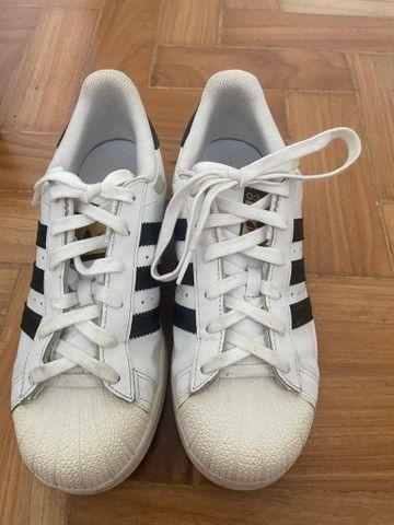 Adidas Superstar Unissex usado tamanho 36 - Foto 5