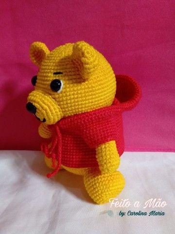 Urso Pooh De Amigurumi - Foto 2
