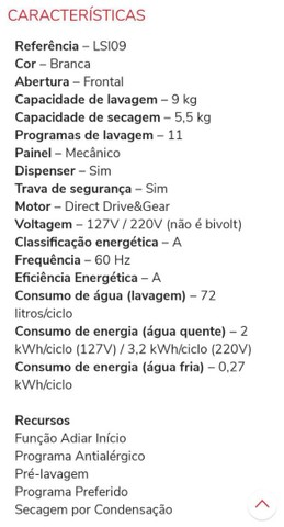 Lava e seca Electrolux 1.700,00 EXTRA!! - Foto 4