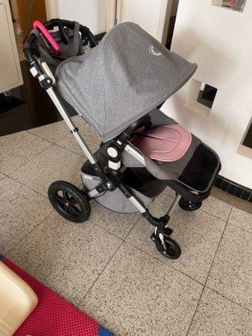 Carrinho de bebê, com bebê conforto e pula pula - Foto 3