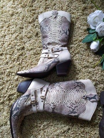 Bora estilo cobra n.37 bota marrom 35 - Foto 2
