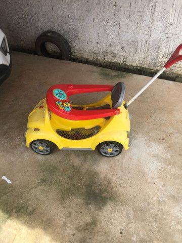 Carrinho De Passeio Ou Pedal 1300 Fouks - Calesita Amarelo *48