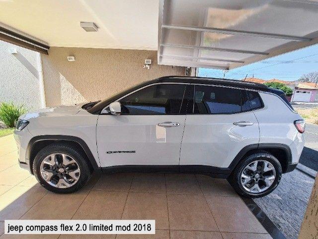 Jeep Compass 2018 Limited Branco Polar (perolizado) revisões na concessionária - Foto 5