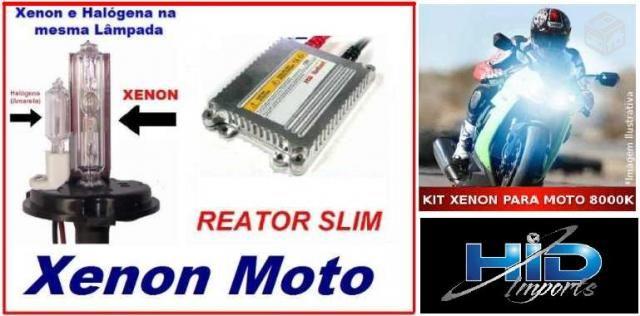 Kit xenon carro moto 6000k 8000k H1 H3 H4 H H8 H11 Hb3 Hb4 H27 hid imports Atacado Jacui - Foto 2