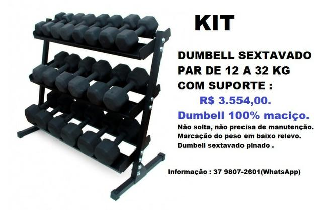 Kit Dumbell Sextavado
