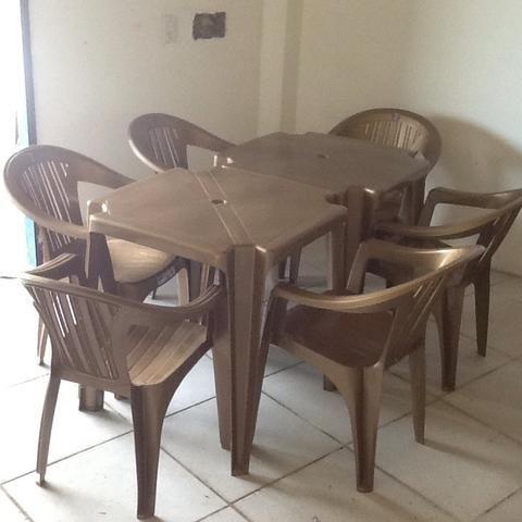 150,00 conjunto com 4 cadeira zap 81-985671731 ney