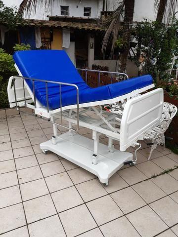 Cama hospitalar 3 manivelas,s luxo com elevação de altura - Foto 4