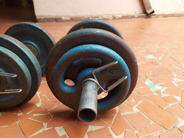 Halteres de 24kg usados. - Foto 3