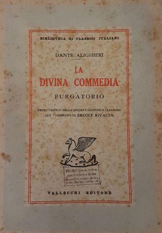 Liquidação! Divina Comédia em italiano, edição comentada de 1950 - Foto 2