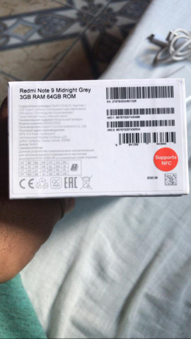 Redmi note 9 midnight Grey 3GB RAM 64GB ROM já estã com película *  - Foto 4