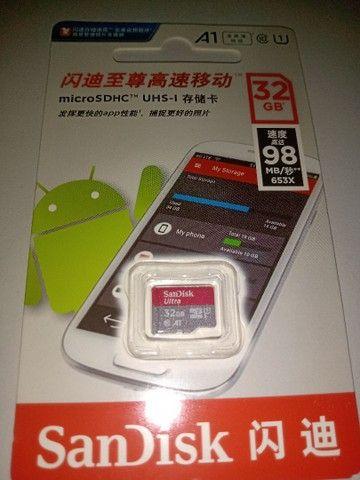 Cartão de memória classe 10 micro 32 gb SanDisk  - Foto 3