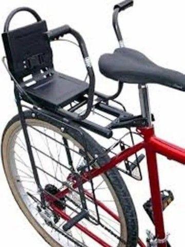 Cadeirinha + bagageiro para bike  - Foto 2