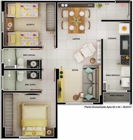Apartamento com 2 dormitórios à venda, 55 m² por R$ 260.000,00 - Água Fria - João Pessoa/P - Foto 12