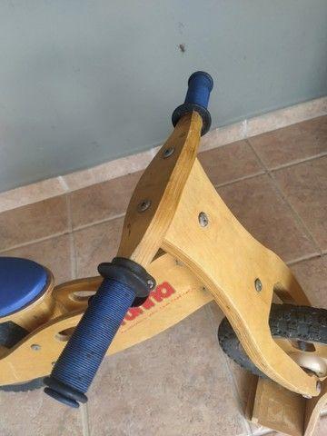 Bicicleta de Madeira Runna Bike sem pedais - Foto 3