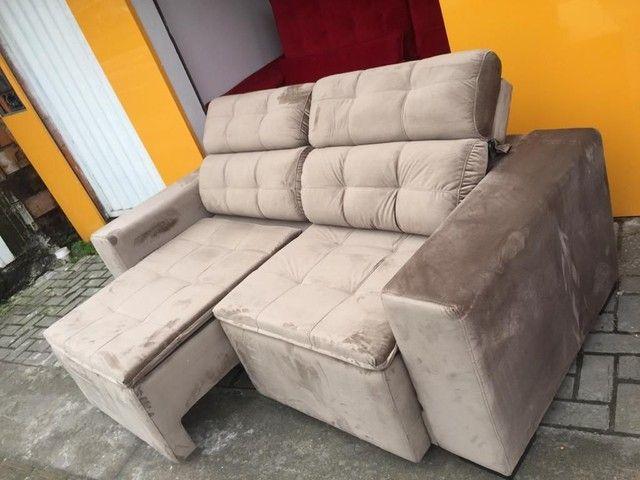 Sofá retrátil reclinável de todas as cores e tecidos!