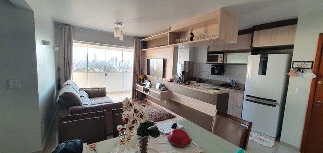 apartamento de 3 qts com escaninho, armários, porcelanato, condomínio reserva da amazônia