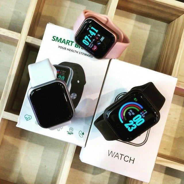 Smartwatch D20/Y68 com Monitor cardiaco e Bluetooh resistente a água para Android/IOS - Foto 2
