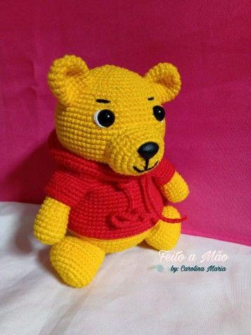Urso Pooh De Amigurumi - Foto 4