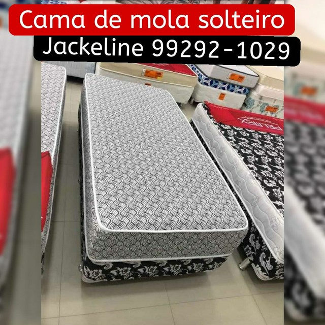CAMA DE MOLAS SOLTEIRO