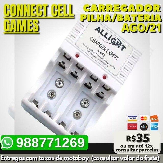 Carregador P/ Pilha Recarregavel Aa/ Aaa/ Bateria 9v Bivolt - Foto 2