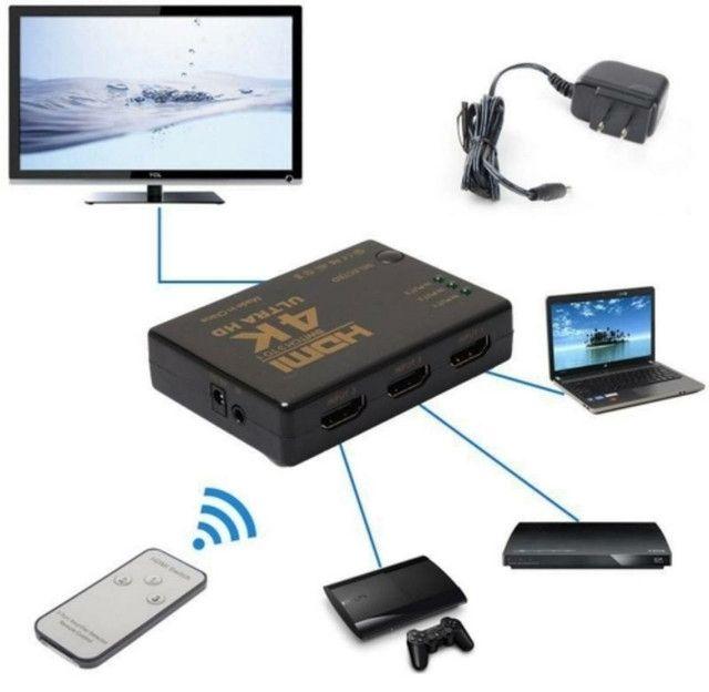 Swith HDMI 3 entradas / 1 saída  - Foto 2