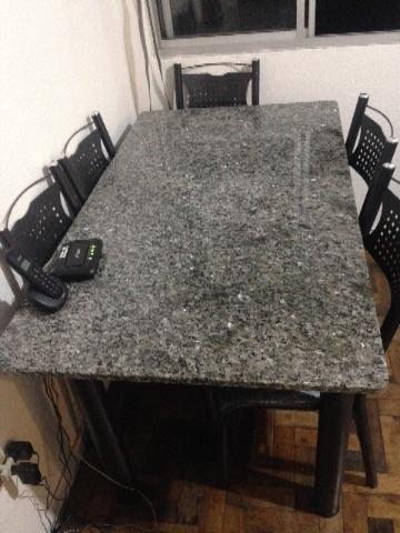 Mesa com pedra de granito 5 lugares