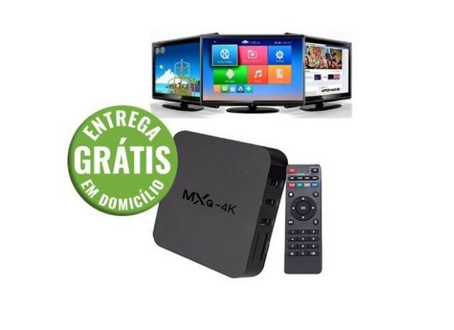 Tv box android mxq-4k 1giga ram e 4giga rom - entrega gratis