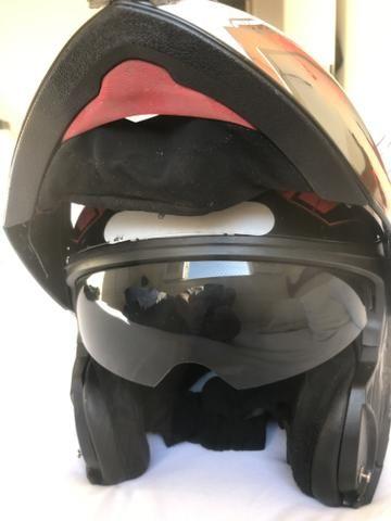 Capacete HELT escamoteavel com sobre viseira - Foto 2