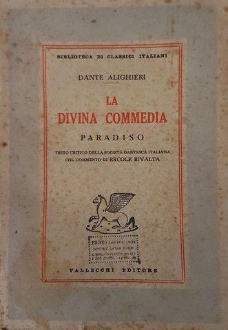 Liquidação! Divina Comédia em italiano, edição comentada de 1950