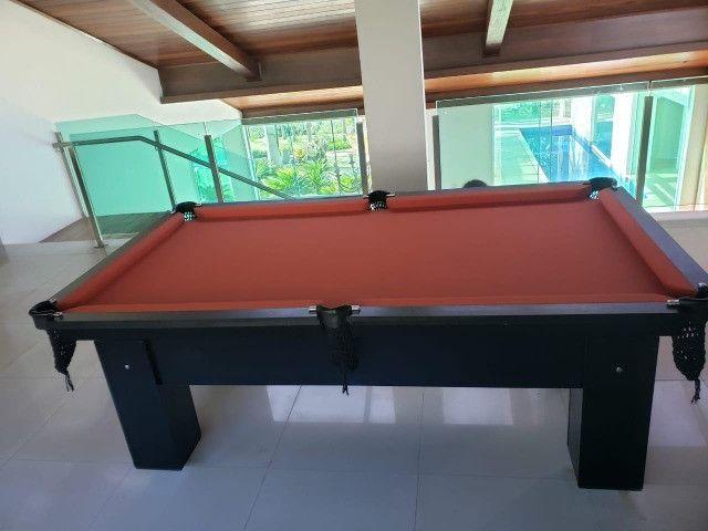 Mesa de Bilhar Preta TX Tecido laranja Modelo ZRJH090265 - Foto 3