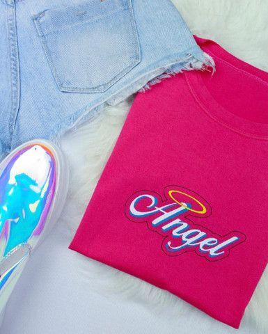T-shirt feminina 100% algodão  - Foto 6