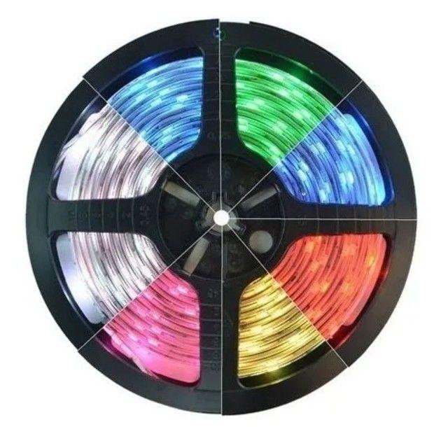 Fita led 5050 Colorida 16 cores c/ fonte - Foto 4