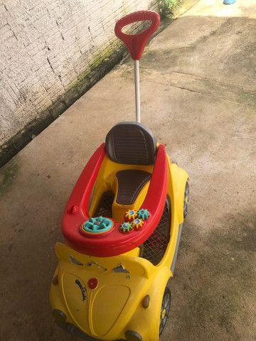 Carrinho De Passeio Ou Pedal 1300 Fouks - Calesita Amarelo *48 - Foto 4