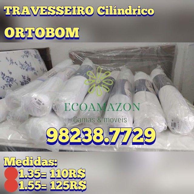 Travesseiros Cilíndricos *Ortobom // Ultimas unidades