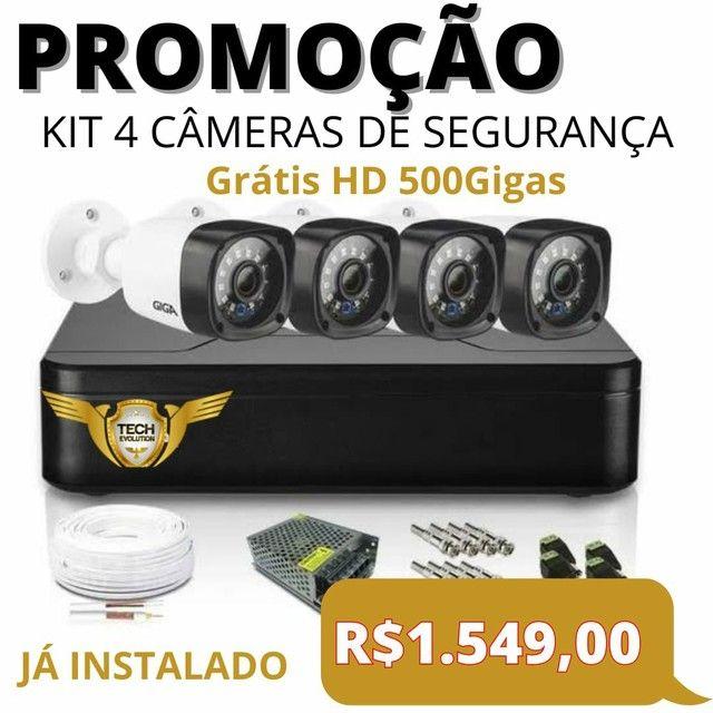 Câmeras de segurança intelbras cftv kit de 4 câmeras  - Foto 2
