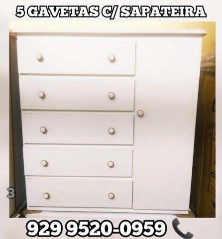 comoda 100% mdf a partir 189,99  sapateira >>>> - Foto 6