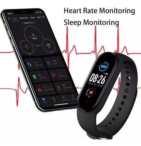 Pulseira Relógio Inteligente  Smartwatch M5 - Foto 6