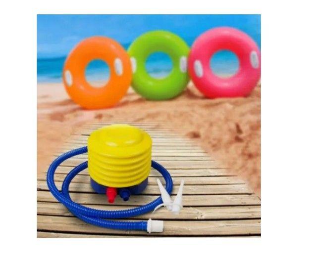 Bomba Inflador Manual Encher Balões, Bexigas e Brinquedos_c406 - Foto 2